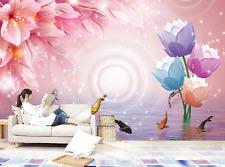 3D Color Flower Fish 8 Wall Paper Murals Wall Print Wall Wallpaper Mural AU Kyra