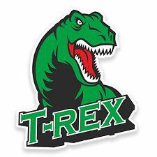 2 X 10 Cm T-rex Dinosaurio pegatina de vinilo Laptop Casco Kids Skate Trex Cool # 9617