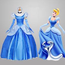 Cinderella Aschenputtel Disney Cosplay Kostüm Abend-kleid lang long Ball Blau
