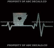 VRS Heart Beat Line STATE ARKANSAS Little Rock University CAR METAL DECAL
