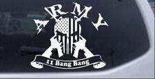 ARMY 11 Bang Bang Punisher Skull US Flag AR15 Gun Car Truck Window Decal Sticker