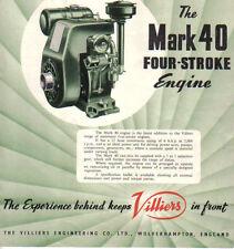 Villiers Mark 40 4 Stroke Engine Original UK Sales Brochure not dated