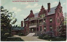 Antique Postcard c1911 Springfield Hospital Springfield, Ma Mass.