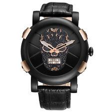 SKONE Genuine Pirate Skull  Man Watches Male Quartz Wristwatch