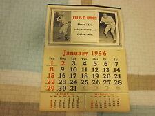 1956 Calendar Eulis Hubbs Header ( Father of Ken Hubbs )
