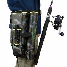 Fishing Waist Bag Rod Reel Storage Tackle Shoulder Leg Lure Bait with Hard Case
