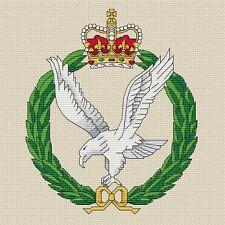 "Army Air Corps Cross Stitch Design (8x8"", 20x20cm, kit or chart)"