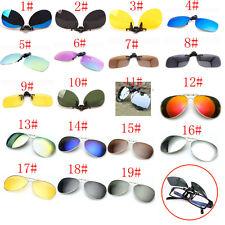 19 Colors Men/Women Polarized UV400 Lens Clip-on Flip-up Myopia SunGlasses GG6