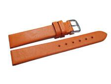 Uhrenarmband echt Leder Business orange 8mm 10mm 12mm 14mm 16mm 18mm 20mm 22mm