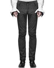 Devil Fashion Men Trousers Pants punk Black Brocade Gothic Aristocrat Steampunk