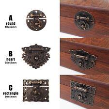 2/6pc Decor Retro Jewelry Chest Wine Box Wood Case Toggle Hasp Latch Catch Clasp