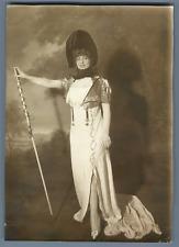 Bal Costumé Empire. Mlle Jane Faber de la Comédie Française  Vintage silver prin