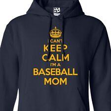 I Can't Keep Calm I'm a Baseball Mom HOODIE - Hooded Jumper Sweater Sweatshirt