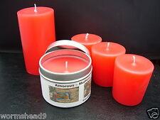 Handmade AMOROUS MEDIEVALE Aromaterapia CANDELA ROSSO votive, pilastro o di contenitore