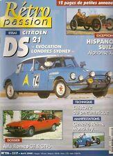 RETRO PASSION 116 CITROEN DS 21 ALFA ROMEO ALFETTA GT GTV6 HISPANO SUIZA ALPH 13