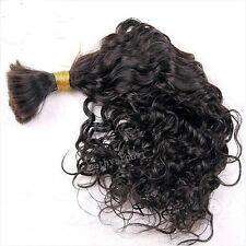 Brazilian Virgin Human Braiding Hair Bulk Hair Extenstions Curly Style For Women