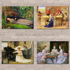 John Everett Millais A4 canvas paper / poster prints. Pre-Raphaelite.