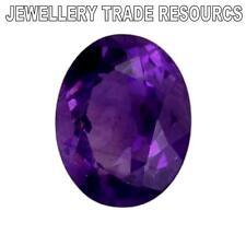 12 Mm X 6mm Oval Natural ametista púrpura profundo Joya Piedra Preciosa