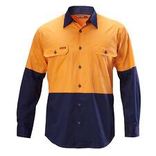 Hard Yakka KOOLGEAR LONG SLEEVE SHIRT Orange/Navy*AUS Brand-Size 3XL, 4XL Or 5XL