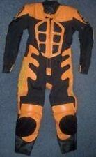 Bebé Motociclista Velocidad Demonio Niños Motocicleta Minimoto mitad Cuero Carrera Traje Naranja T