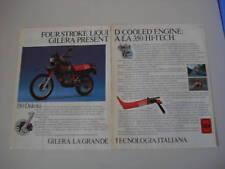 advertising Pubblicità 1986 MOTO GILERA 350 DAKOTA