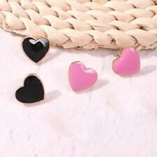 Ear Stud Earrings Jewelry Women Gift New Arrival Enamel Charm Earring Love Heart