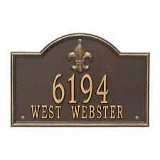 Bayou Vista Two Line Personalized Address Plaque