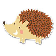 2 X 10 Cm Happy Hedgehog pegatina de vinilo calcomanía Laptop Auto Casco animal Kids # 6240