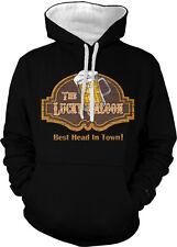 Lucky Saloon Mug Beer Best Head In Town Foam Pint Bar Two Tone Hoodie Sweatshirt