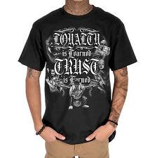 Dyse One Loyalty Mens Black T-Shirt Urban Streetwear Tattoo Graffiti Art