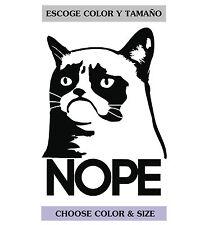 Sticker Vinilo - NOPE Cat  - Vinyl - Tablet - Pegatina - AUFKLEBER - Gato