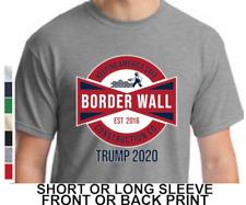 a5b1bd5b Donald Trump Border Wall Construction Company Mens Short Or Long Sleeve T  Shirt