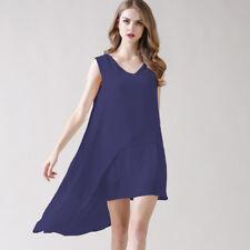 vestitino abito corto  maxi maglia morbida blu elegante comoda morbido 4336