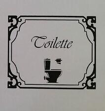sticker autocollant toilettes WC salle de bain Signe Porte Mur pancarte de porte