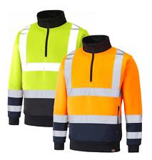 Dickies Two Tone Hi Viz 1/4 Zip Sweatshirt Jumper SA22092 Small - 4XL