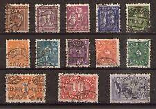1921 Deutsches Reich aus Mi. 177-196 gestempelt Einzelmarken einzeln wählbar