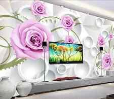 3D Rose Chinoise 35 Photo Papier Peint en Autocollant Murale Plafond Chambre Art