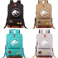 Jurassic World Park Dinosaur Backpack School Bag Laptop Travel Camping Rucksack