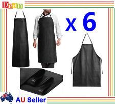 6X PU Leather Waterproof Waiter Chef Kitchen Cooking Welding Blacksmith Apron