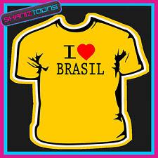 I Amore Cuore Brasil T-Shirt Tutte Le Taglie E Colori
