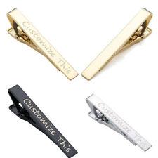 Laser Engraved Mens Necktie Tie Clip Clasp Breastpin Wedding Personalised Gift