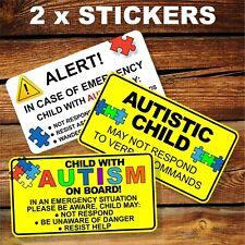 2 x Autism Car Sticker Autistic Decal Special Needs
