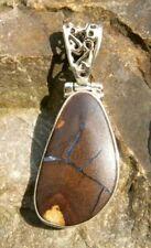 Opal Anhänger Silber 925 BOULDER OPAL 28x16mm Schmuck Design Edelstein gut NEU