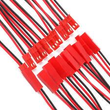 Jst connecteurs 2 câbles mâle et femelle paire rouge et noir rc fils 300mm (150 ea)