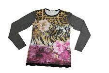 T-shirt da bambina maculata AngelDevil manica lunga girocollo pizzo junior moda