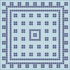 Mosaik Vorlage ROMAN III 60x60cm incl Kohlepapier V1305
