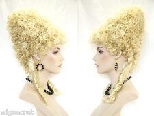 Marie Antoinette Medium Blonde Brunette Curly Fun Color Costume Wigs in 4 Colors