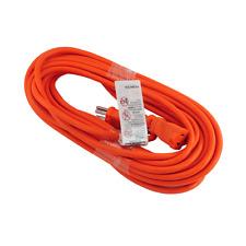 Premium Orange Electric Cable Power Extension Cord 10, 20, 25, 40, 50FT 16 Gauge