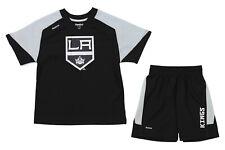 Reebok NHL Kids Los Angeles Kings Power Grid Shorts Set, Black