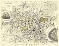 Old Great Britain Map - Edinburgh Scotland - 1834 - 29.44 x 23